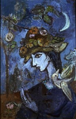 Hans Juchser Hommage A Marc Chagall 1967 Kunst In Der Ddr Werke